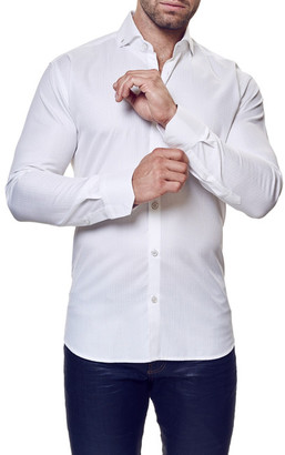 Maceoo Elegance Long Sleeve Trim Fit Shirt (Big & Tall Available) $169 thestylecure.com