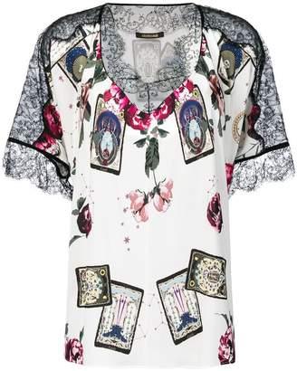 Roberto Cavalli lace detailing shift blouse