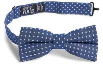 Chambray Dot Silk Bow Tie