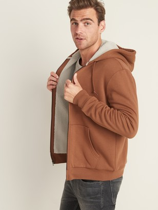 Old Navy Sherpa-Lined Zip Hoodie for Men