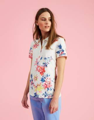 Joules Cream Whitstable Floral Pippa print Printed Polo Shirt Size 6