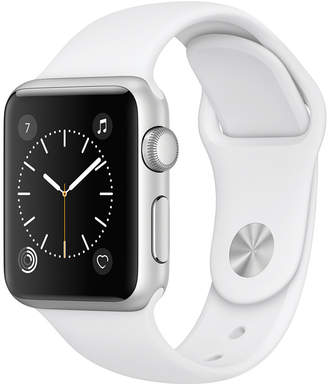 Apple Watch Series 1 38mm Silver-Tone Aluminum Case with White Sport Band $269 thestylecure.com