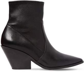 Casadei 60mm West Stretch Leather Cowboy Boots