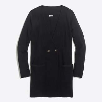J.Crew Factory Collarless sweater-blazer