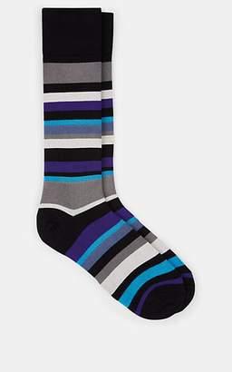 Paul Smith Men's Bangor Cotton-Blend Mid-Calf Socks - Stripe
