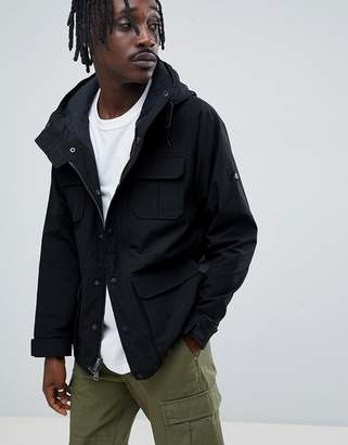 Penfield Kasson Parka Jacket Hooded Fleece Lined in Black