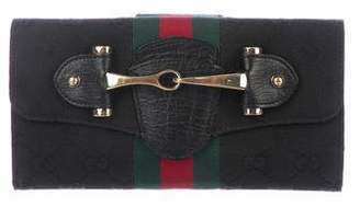 Gucci Web Horsebit Continental Wallet