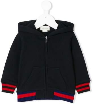 Gucci Kids striped trim hoodie