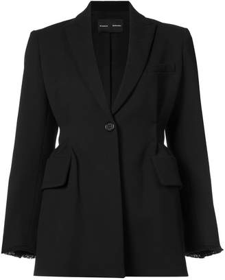 Proenza Schouler Single Breasted Waisted Jacket