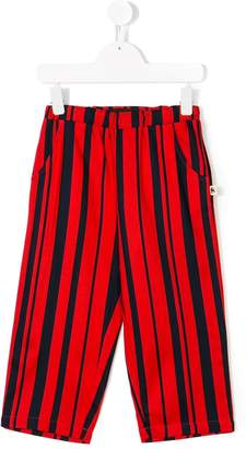 Mini Rodini odd stripe woven trousers