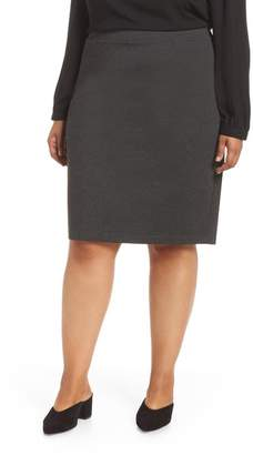 Halogen Ponte Pencil Skirt (Plus Size)