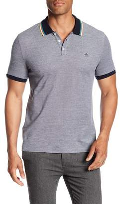 Original Penguin Tipped Birdseye Short Sleeve Polo