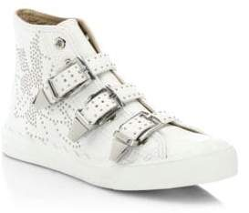 Chloé Kyle High-Top Leather Sneakers