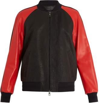 Neil Barrett Lightning bolt leather bomber jacket