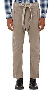 NSF Men's Distressed Cotton Karate Pants - Olive Size S