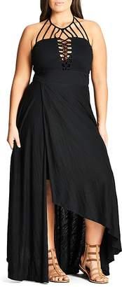 City Chic Strappy Maxi Dress