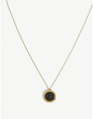 Maje Number 8 medallion necklace
