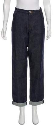 Vanessa Seward High-Rise Straight-Leg Jeans w/ Tags