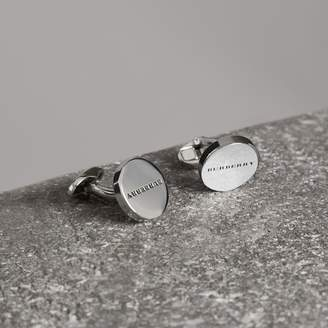 Burberry Engraved Bronze Cufflinks