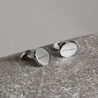 Burberry Engraved Bronze Cufflinks, Grey