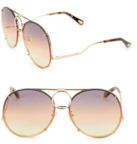 Chloé Vicky Interchangeable 61MM Aviator Sunglasses