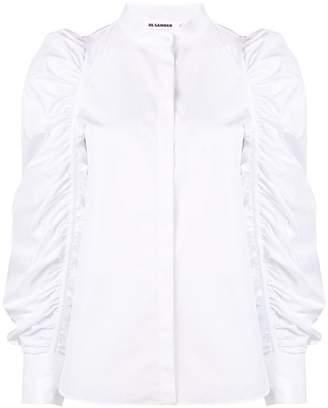 Jil Sander ruched puff sleeve shirt