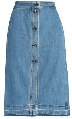 Rag & Bone Denim Midi Skirt