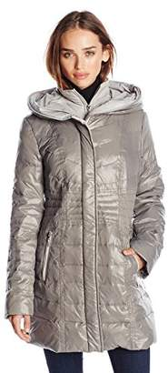 Kensie Women's Packable Down Coat with Hood $32.82 thestylecure.com