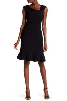 Nanette Lepore NANETTE Sleeveless Textured Lace Trim Dress