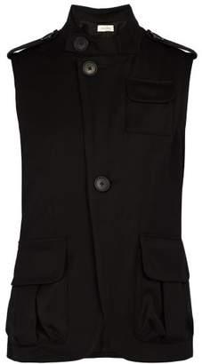 Wales Bonner Sleeveless Military Jacket - Mens - Black