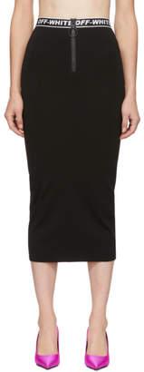 Off-White Off White Black Diagonal Simple Skirt