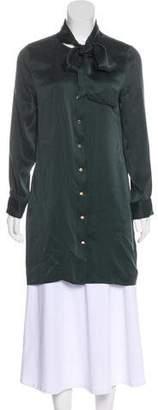 Equipment Long Sleeve Silk Dress