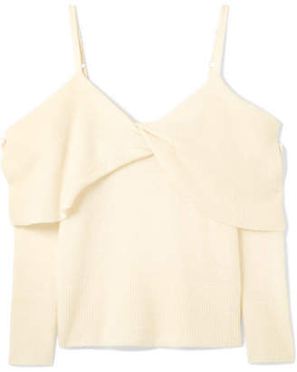 ADAM by Adam Lippes Convertible Draped Cashmere And Silk-blend Sweater - Cream