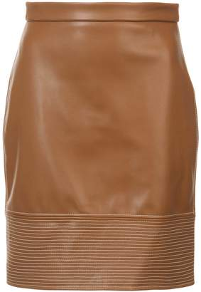 Christian Siriano stitch detail fitted skirt