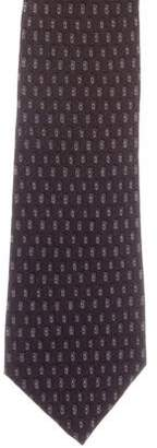 Isaia Abstract Print Wool-Blend Tie