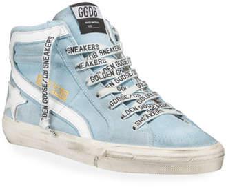 Golden Goose Men's Slide Suede High-Top Sneakers