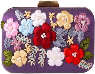 OUOU WEILI Embroidery With Rhinestone Evening Bag Ball Clutch Purse