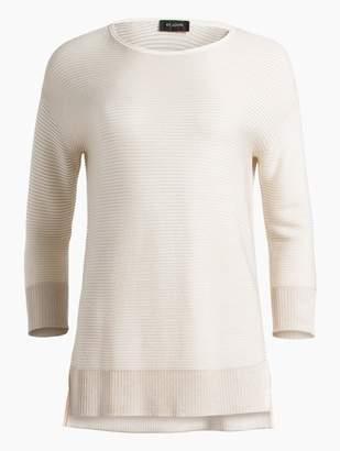 St. John Micro Stripe Links Knit Bracelet Length Sleeve Sweater