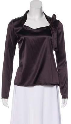 Dolce & Gabbana Silk Long Sleeve Top