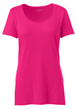 Lands' End Women's Tall Shaped Layering Scoopneck T-shirt-Meadowland Green $25.50 thestylecure.com