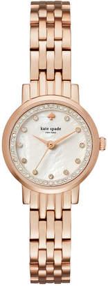 kate spade new york Women's Mini Monterey Rose Gold-Tone Stainless Steel Bracelet Watch 24mm KSW1243 $250 thestylecure.com
