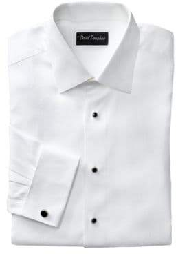 David Donahue Dobby Neat Cotton Dress Shirt