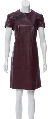 Ralph Lauren Lamb Leather Cap Sleeve Dress