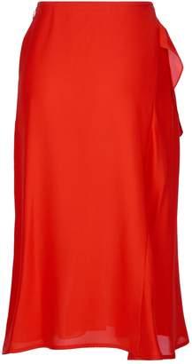 Victoria Beckham Silk Ruffle Midi Skirt