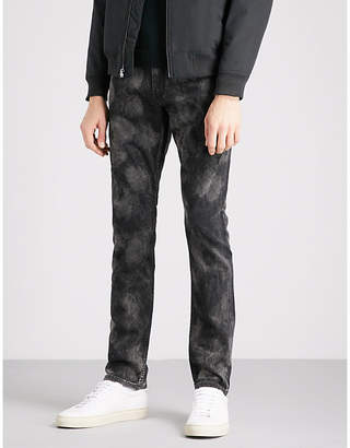 Paige Mens Washed Black Lennox Onyx Mineral Slim-Fit Skinny Jeans