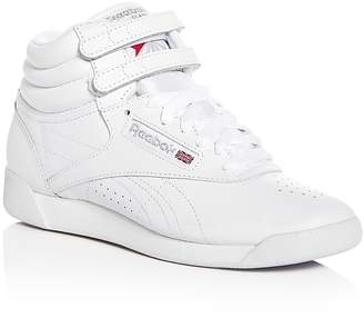 Reebok Women's Freestyle Leather High Top Sneakers