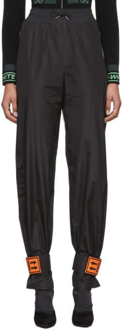 Black and Orange Nylon Lounge Pants
