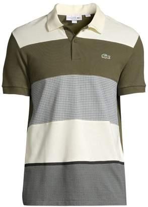 Lacoste Tattersall Colorlock Cotton Polo