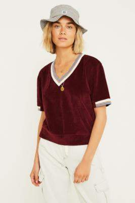 f0087a034734f Urban Renewal Vintage Remnants Burgundy Velour T-Shirt