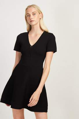 French Connenction Ellie Knits V Neck Fitted Dress